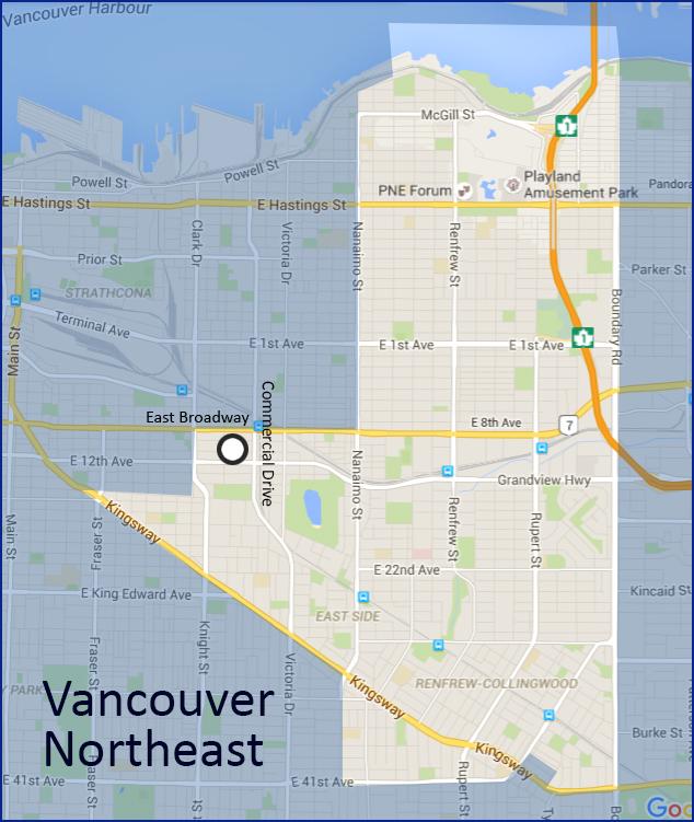 Le secteur Nord-est de Vancouver